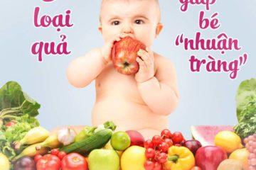 13 loại trái cây giúp bé nhuận tràng chữa bay táo bón