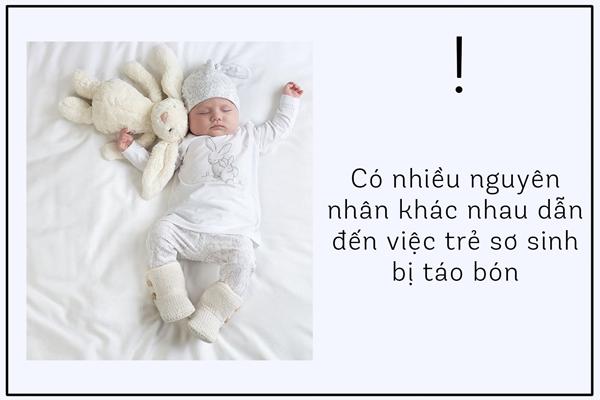 nguyên nhân trẻ sơ sinh bị táo bón
