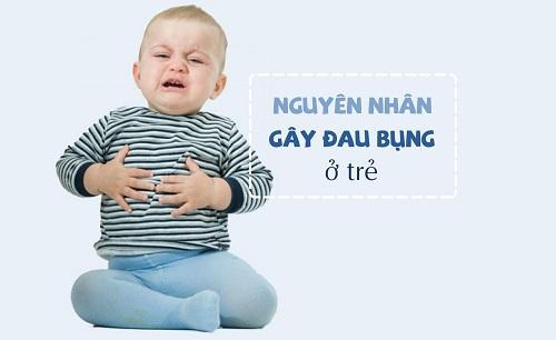 Đau bụng ở trẻ em có thể do nhiều nguyên nhân
