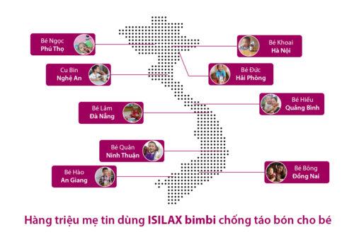 hàng triệu mẹ tin dùng Isilax bimbi chống táo bón cho bé