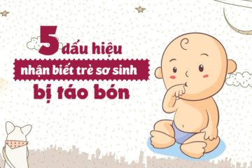 5 dấu hiệu táo bón ở trẻ sơ sinh