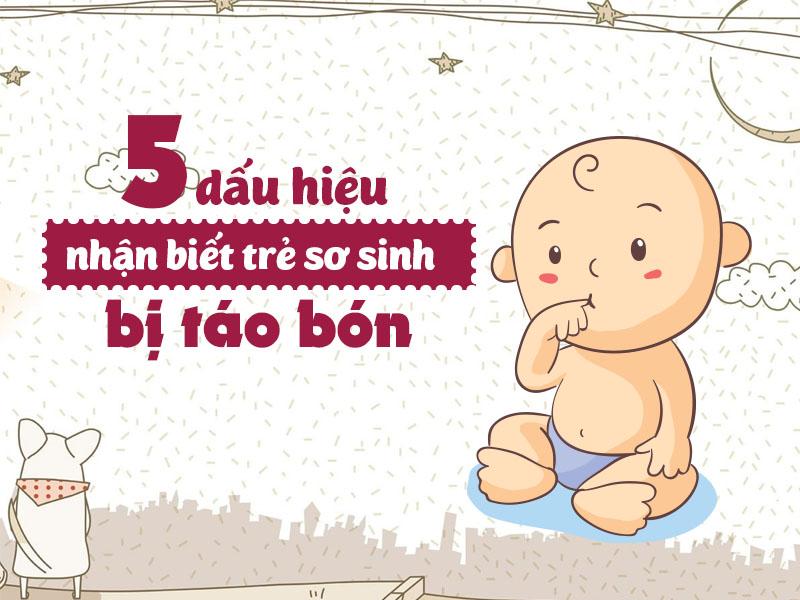 dấu hiệu táo bón ở trẻ sơ sinh