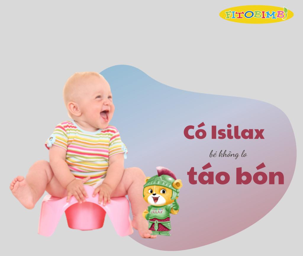 Isilax - Giảm táo bón kéo dài cho trẻ
